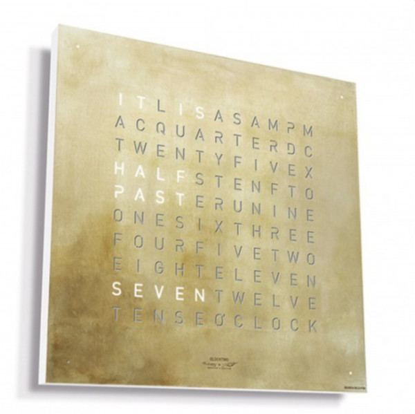 Qlocktwo Frontcover Classic Silver & Gold