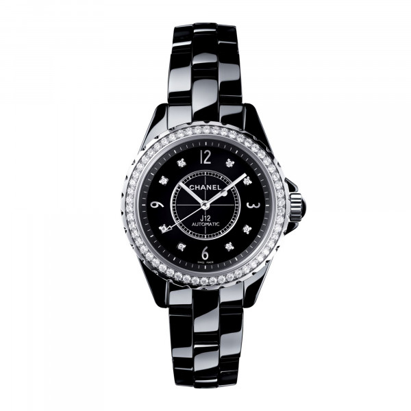 Damenuhr Chanel J12 Black H3109