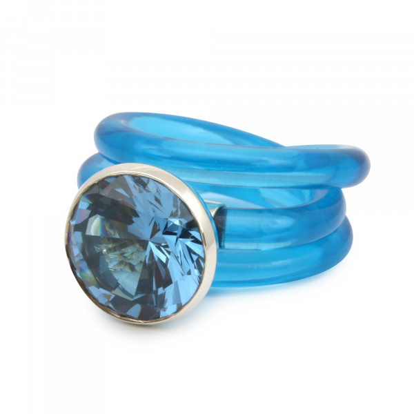Schmucklabor Ring Electric Blue