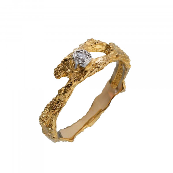 Lapponia Ring Damen Diamond Pond Gold